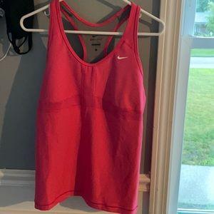 Women's size L Nike dry fit built in bra